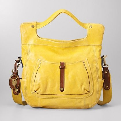 Sunshine yellow tote