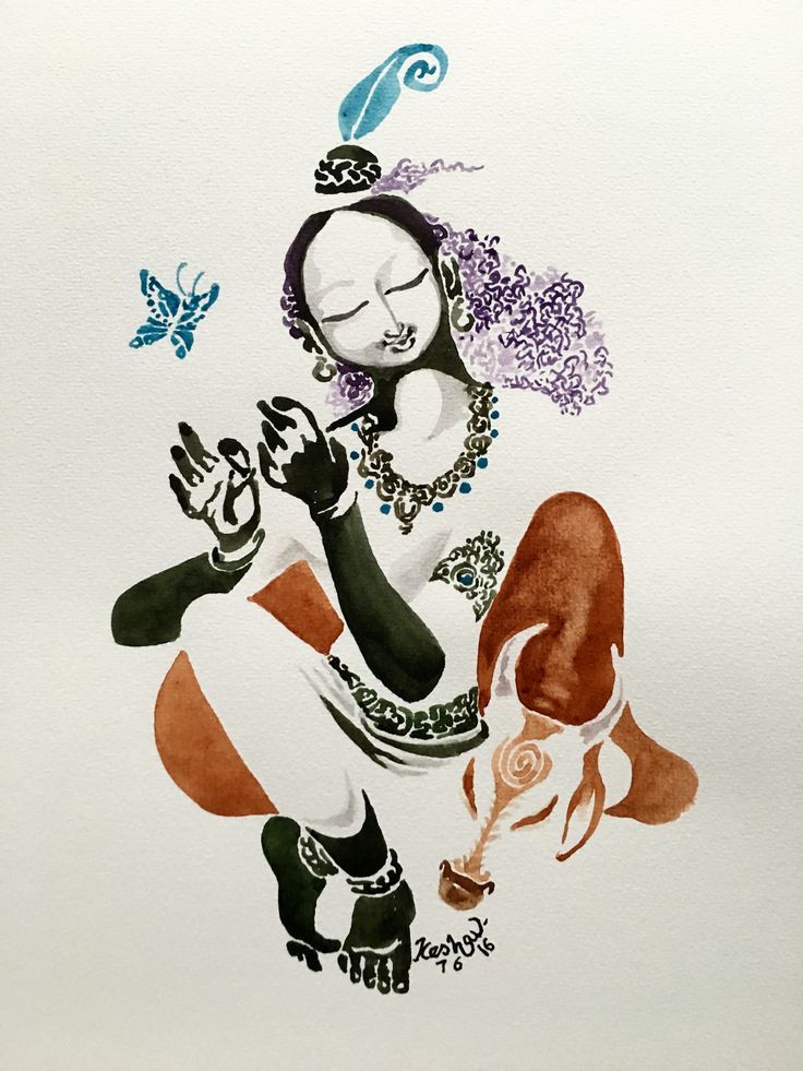 New forever. #watercolor #krishnafortoday