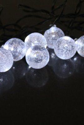 Ideal InnooTech LED Solar Lichterkette Kristall Kugel f r Au enbeleuchtung Deko Garten Party Weihnachten Meter