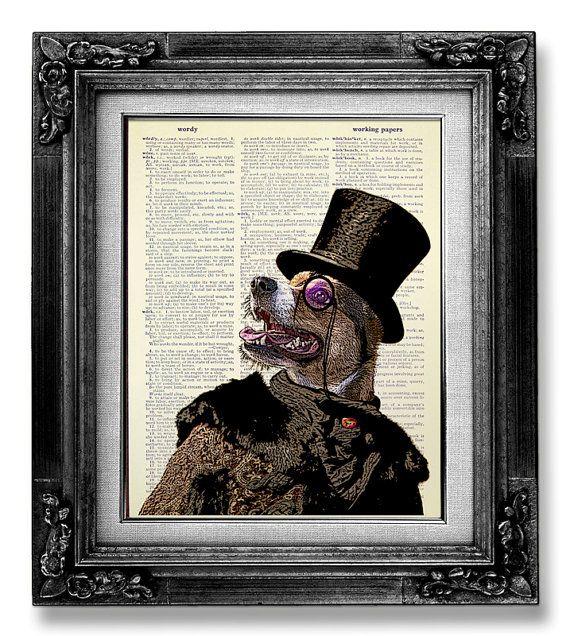 http://www.etsy.com/listing/163729451/geekery-art-steampunk-decor-dog-poster?ref=market