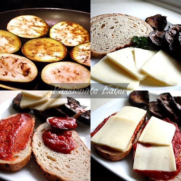 Mozzarella and Eggplant Panini Sandwiches