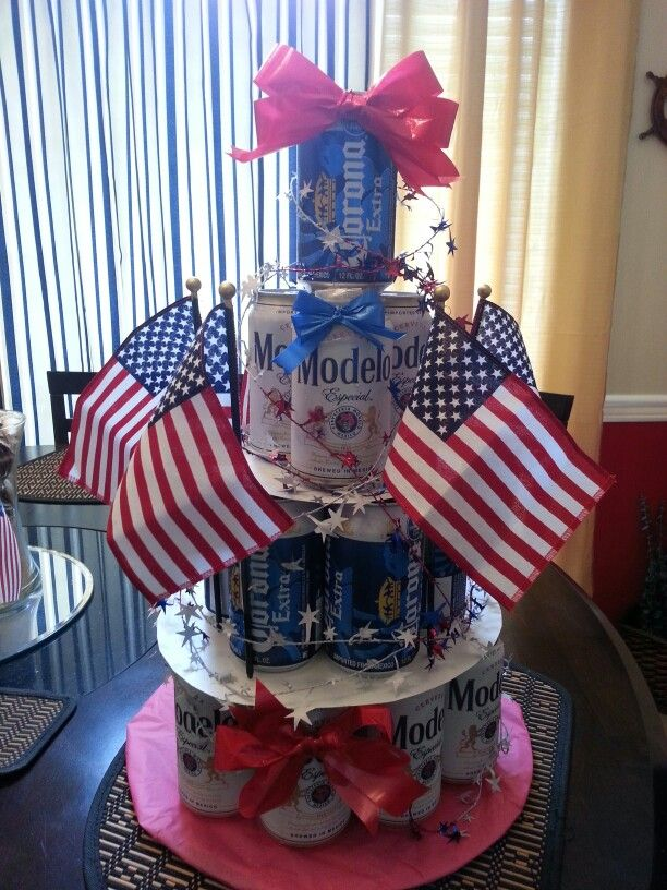 wine beer cake for military homecoming i made crafty