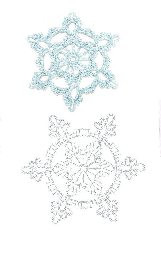 Häkelsteno für Schneekristall