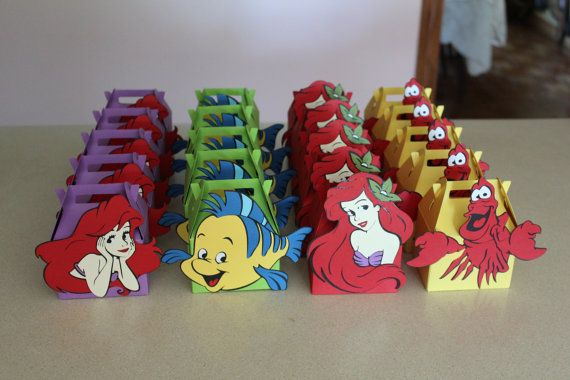 40 Little mermaid party favor box by ToMuchGlueCrafts on Etsy