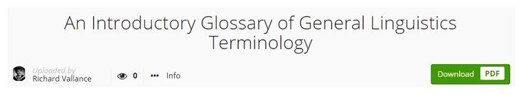 #introduction #glossary #lexicon #dictionary #linguistics #academia.edu #academics #research #upload