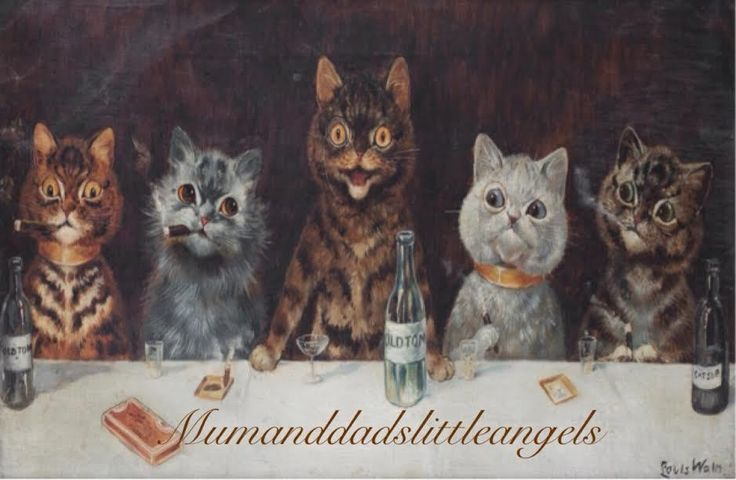 LOUIS WAIN BATCHELOR CAT CIGAR PARTY GLASS PLACEMAT CHOPPING BOARD SPACESAVER