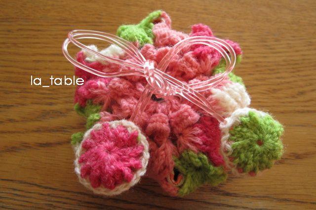 花たくさんの巾着ポーチ AME-CHAN「さくら」 - ラ・ターブル