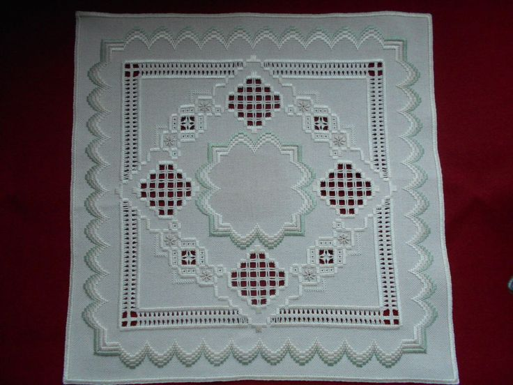 Beautiful Hardanger and Bargello Doily in Crafts, Handcrafted & Finished Pieces, Needle Arts & Crafts   eBay