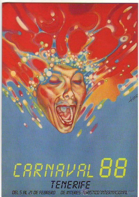 cartel carnaval 88 santa cruz de tenerife