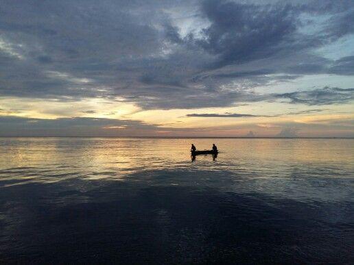 Sunset at Ampana, the hub to Togian Islands