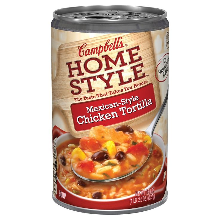 Campbell's Homestyle Mexican-Style Chicken Tortilla Soup 18.6 oz
