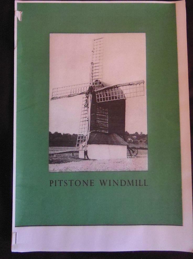 Super Rare Pitstone mill/ windmill model plans by David Wray from 1976 | eBay