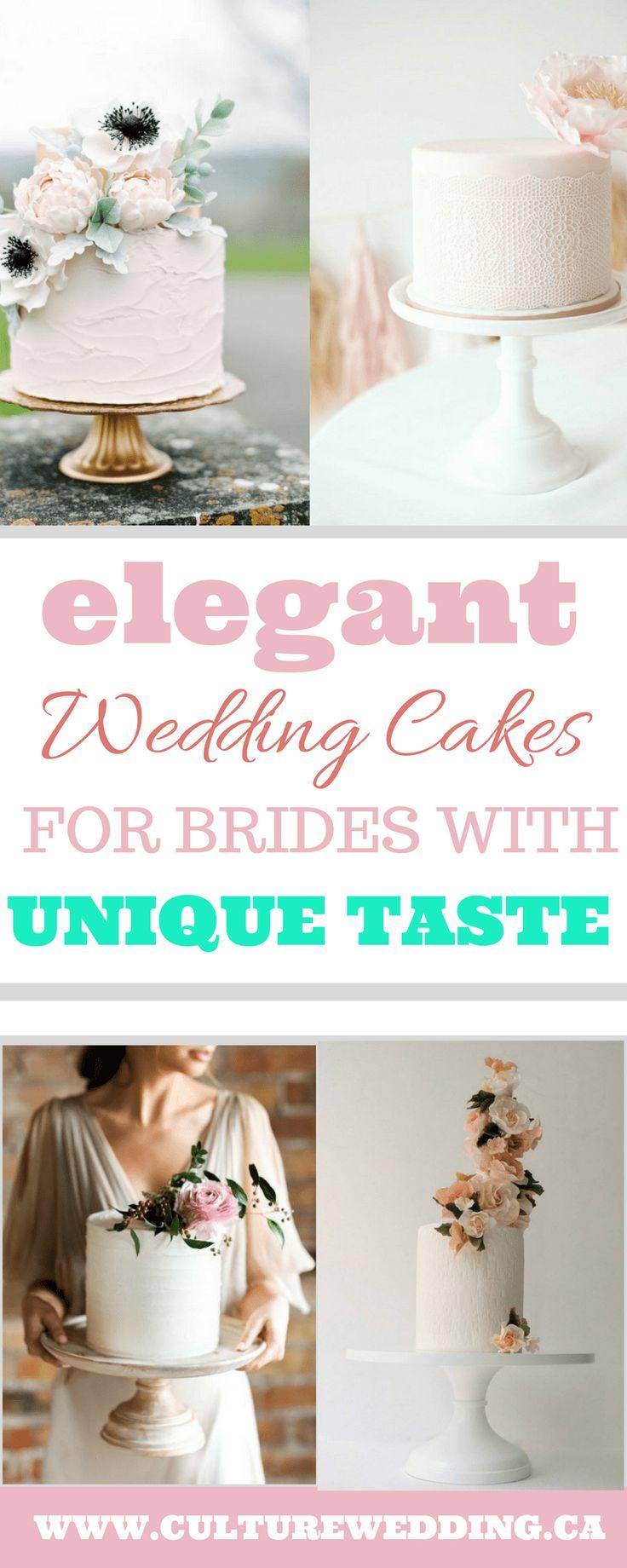 Unique Romantic and Elegant Wedding Cake Trends