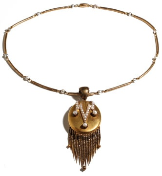 High Victorian Gold Fringe Locket: Mid 19Th, Antique Jewels, Bigger Jewelry, Fringe Locket, High Victorian, England Mid, Victorian Gold