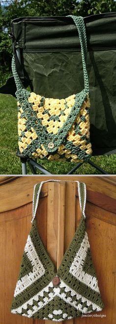 Get Your Granny On bag, free pattern by Valerie Whitten . . . . ღTrish W ~ http://www.pinterest.com/trishw/ . . . . #crochet #purse #tote
