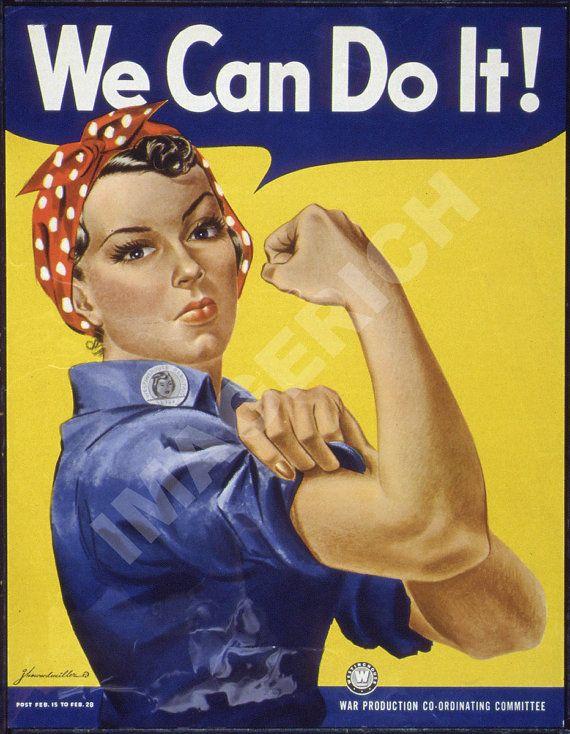 "The Classic World War II Poster - ""We Can Do It !"" https://www.etsy.com/listing/85878143/world-war-ii-poster-we-can-do-it #women"