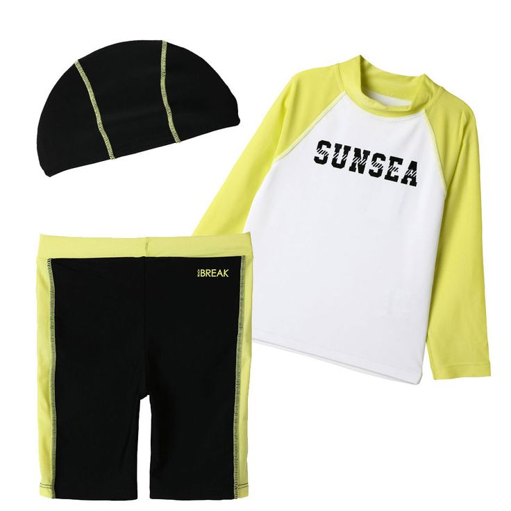 Topten10 KIDS BOY Summer Rash Guard Swimming Pants Hat Swimwear Set_6 options #Topten10 #SwimwearSet