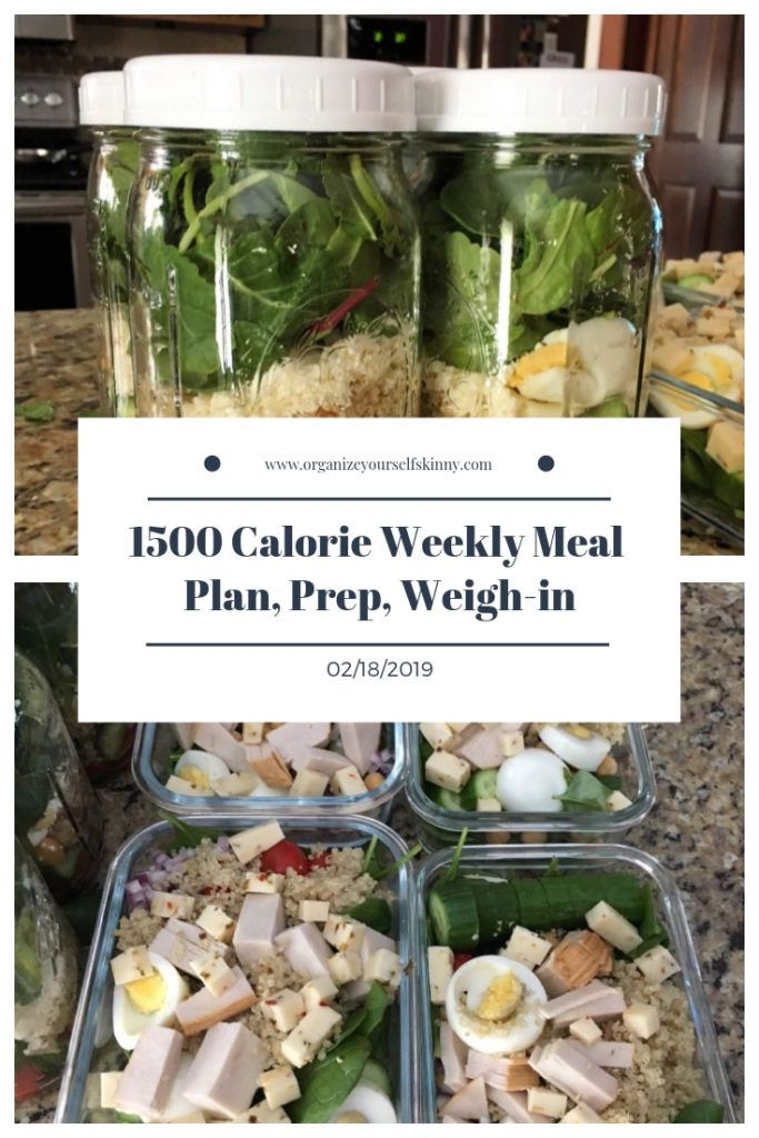 1500 Calorie Weekly Meal Plan Prep And Weigh In February 19th