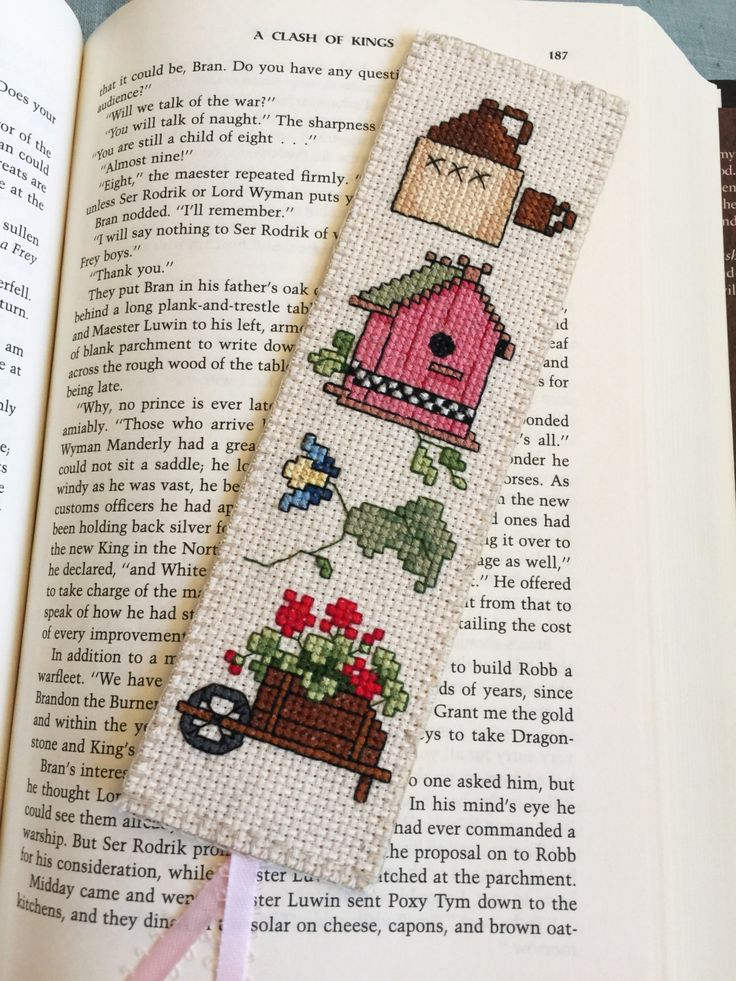 Cross Stitch Bookmark Country Life II