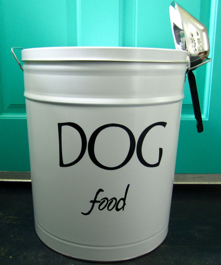 Pet Food Storage Tin. 35.00, via Etsy. Pet food storage