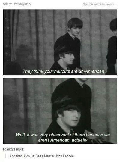 John Lennon being sassy