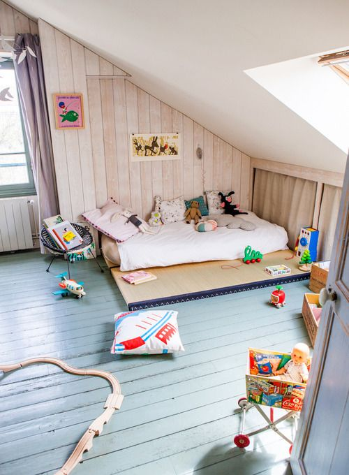 A Cosy Attic Room - Petit and Small #sharedroom #kidsroom