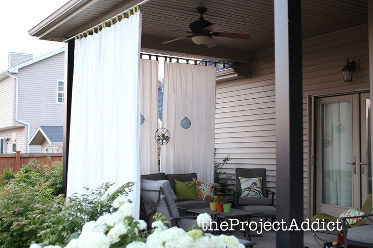 22 besten vorhang ideen balkon terrasse bilder auf. Black Bedroom Furniture Sets. Home Design Ideas