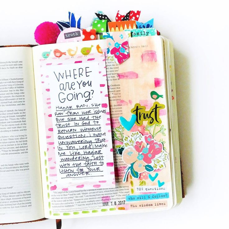 Bible Journaling by @mrs.elaine.davis