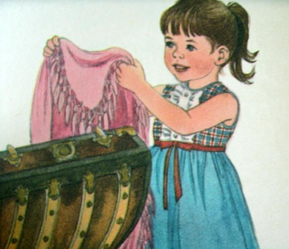 The Treasure Trunk Mary Phraner Warren Rand McNally Start Right Elf Book Illustrated by Sharon Kane 1967 Playing Dress Up