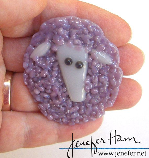 LOVELY LITTLE LAMB HAMinal brooch for knitters sheep wool