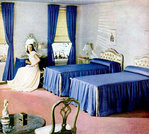 90 Best 1940s Bedroom Images On Pinterest Retro Bedrooms