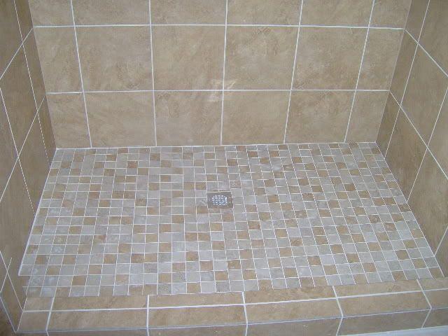 Tiled Shower Floors Pictures With 2 Quot X2 Quot Porcelain Tile