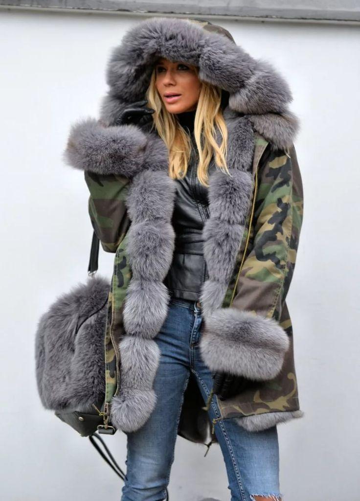 Куртка зимняя с мехом картинки