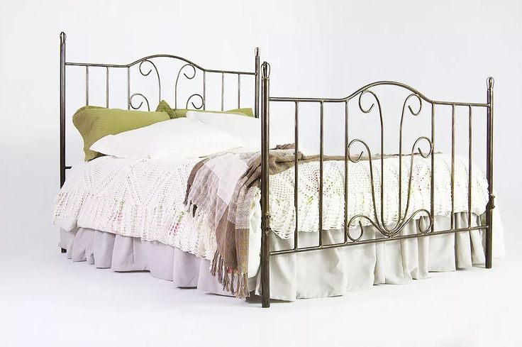 cama casal de ferro  flor - queen size