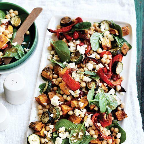 Chickpea, roasted capsicum and kumara salad