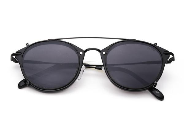 THE CLIP | Óculos de sol retrô fashion steampunk com lentes Clip-on