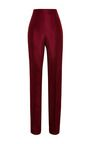 Crafted from sumptuous silk-faille, these burgundy Rosie Assoulin cigarette pants infuse spring's menswear mood with undeniable luxury. Wear yours with a tuxedo jacket for an unconventional take on cocktail attire. 100% silkMade in the USAConcealed side zip closurePlease note: This item is Final Sale.