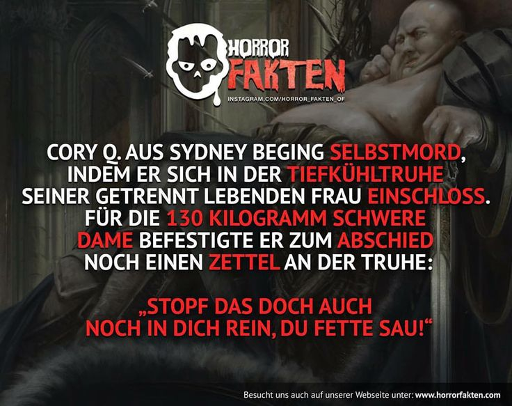 #horrorfakten #horror #fakten | Fakten | Pinterest ...