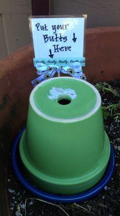 DIY outdoor ashtray - Google Search