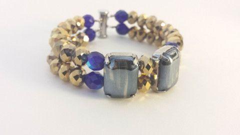 Royal blue & gold bracelet.