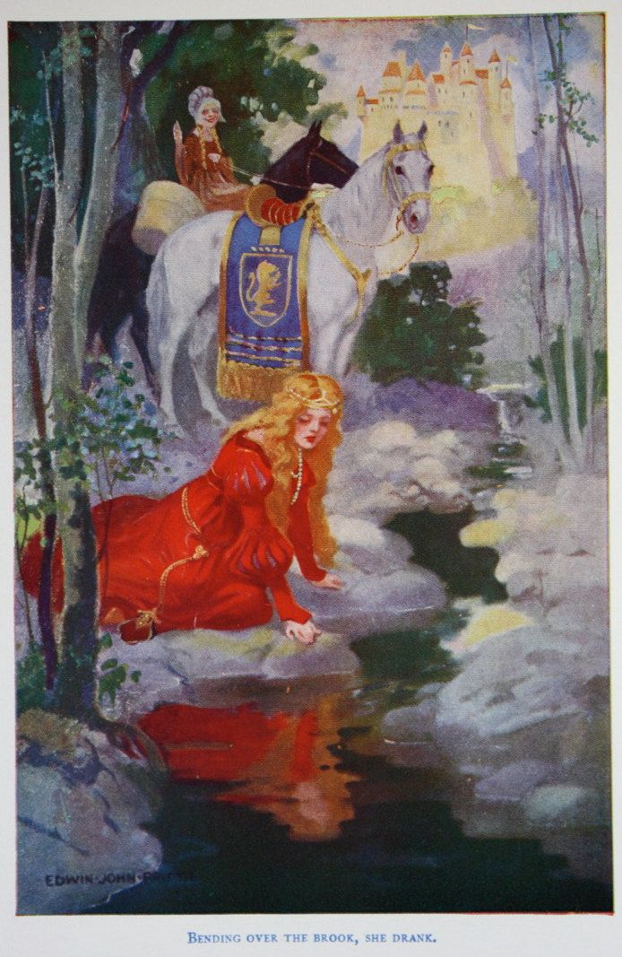 The Goose Girl -- Fairytale Illustration The Drink