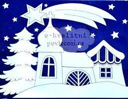 Výsledek obrázku pro vánoční papírové dekorace do oken