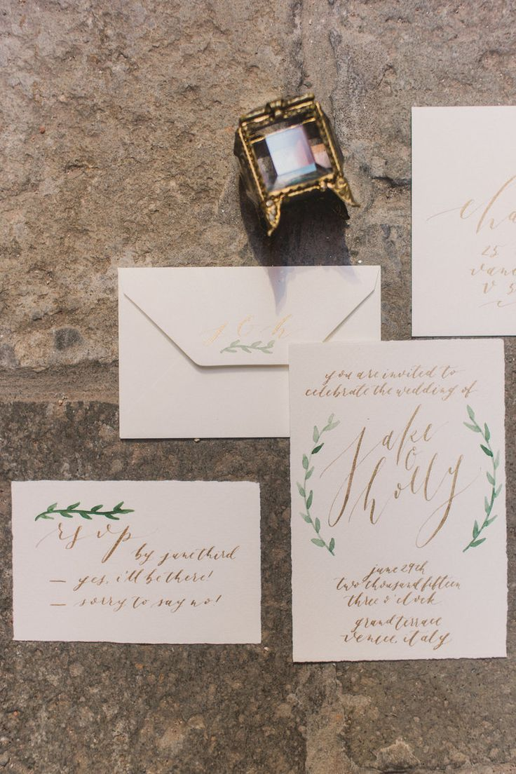 Olive Branch u0026 Co Calligraphy Wedding Suite