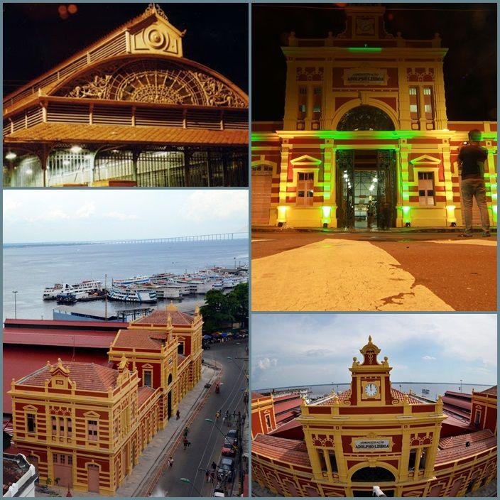 Mercado Municipal Adolpho Lisboa.  Localizado no Centro da Capital de Manaus.