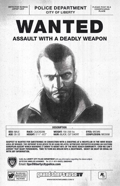 Anuncio Grand Theft Auto IV