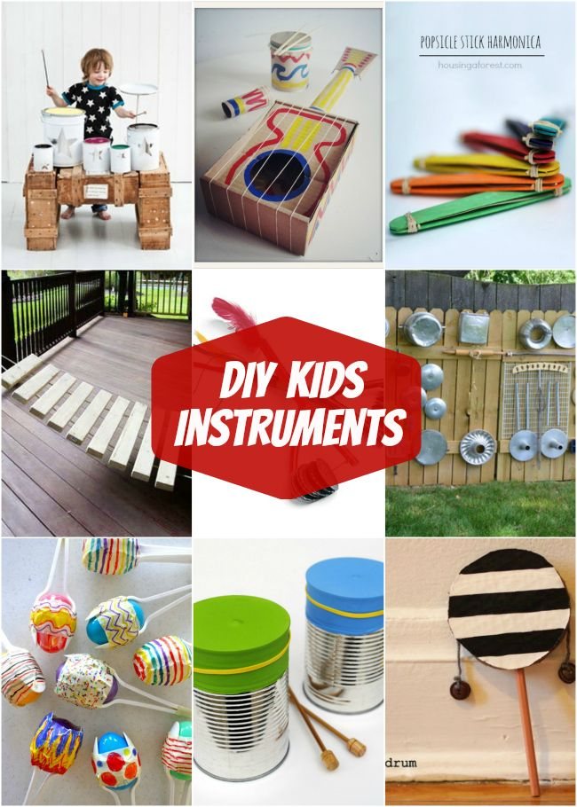 Fun DIY Kids Musical Instruments - great Summer activity!