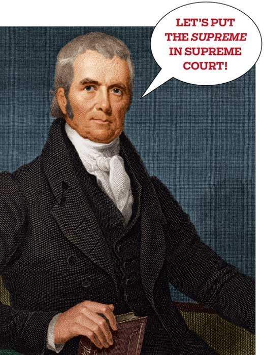 In 1803, the Supreme Court heard the case of Marbury v. Madison. In essence, it concerned Marbury's claim that he had been cheated out of his appointment as a federal judge. The court didn't rule on his claim. Rather, it ruled that the law under which the case was tried was unconstitutional. This was the first time that the Supreme Court claimed the right of judicial review. From our Topic The Supreme Court | Kids Discover