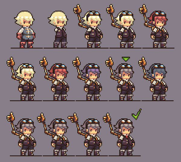 Pixel Art Character Design Tutorial : Best pixel sprite images on pinterest