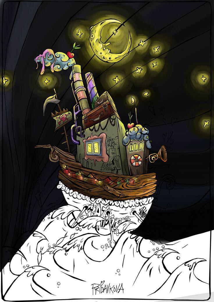 "Coloring book in the process ""Moonzoon"" Katarina Pridavkova #moon #colouringbook #pridavkova #coloringforadults"
