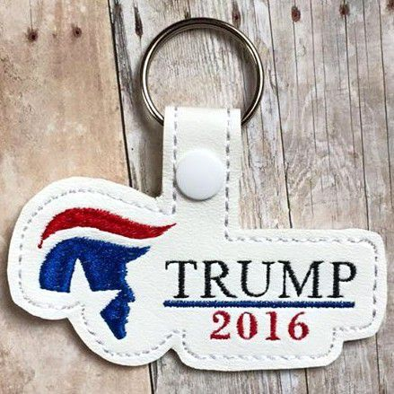 Presidential Candidates 2016 Key Fobs Machine Embroidery by DigitizingDiva on Etsy